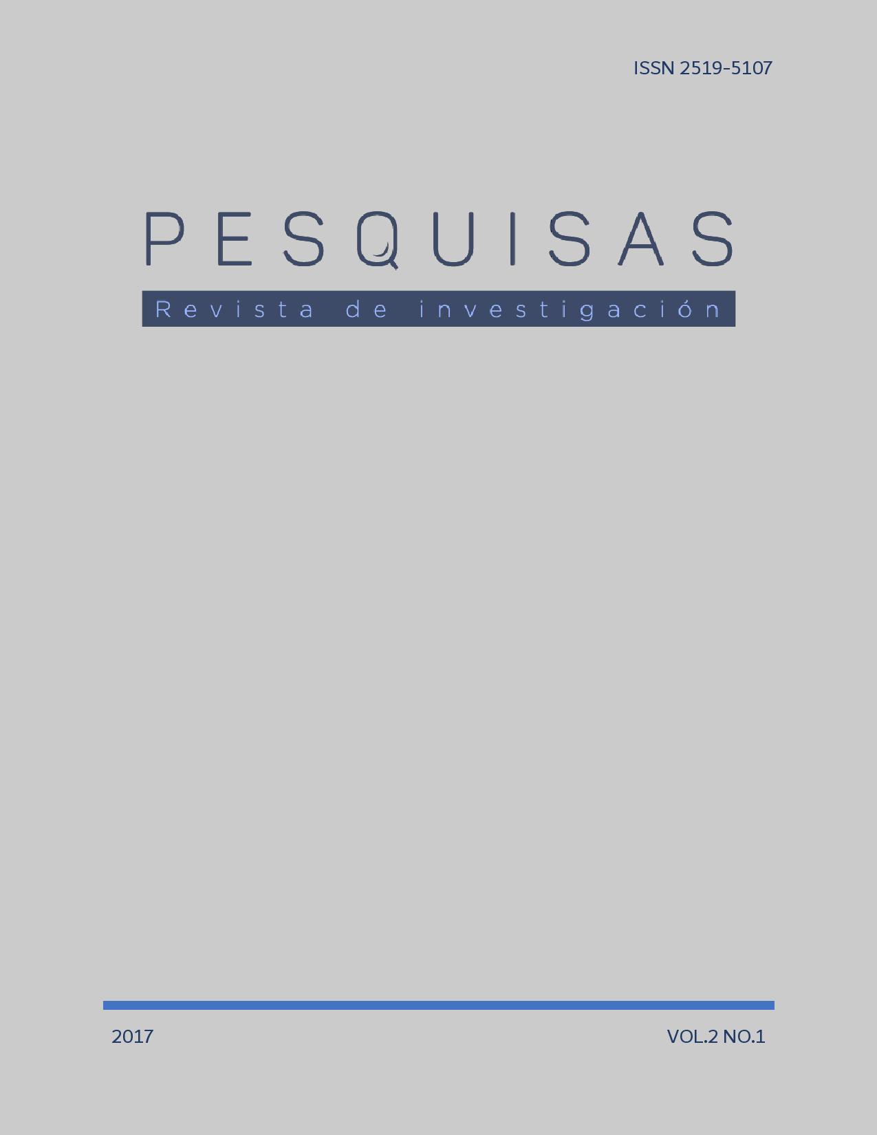 Pesquisas Vol. 2 No.1 Año 2017
